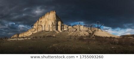 najaar · landschap · zwaar · storm · zonsondergang · boom - stockfoto © capturelight