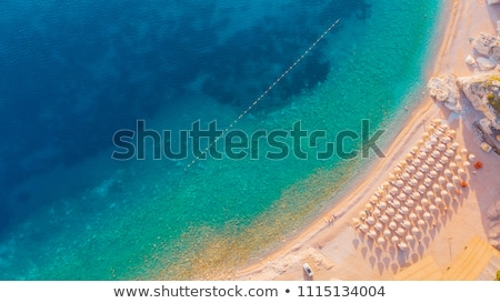 Летние каникулы Черногория пляж человек карт Сток-фото © stevanovicigor