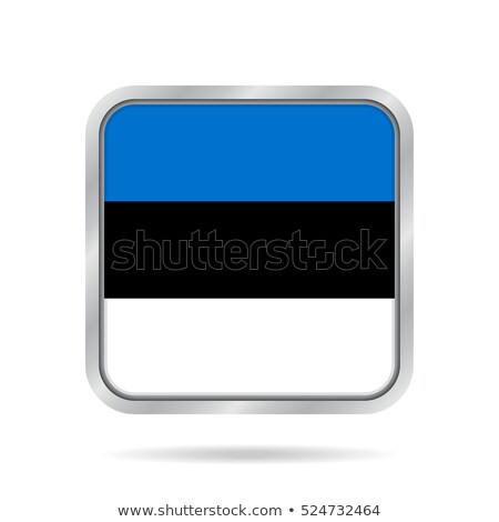 Square metal button with flag of estonia Stock photo © MikhailMishchenko