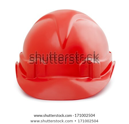 Isolated safety red helmet for workers Stock photo © ozaiachin