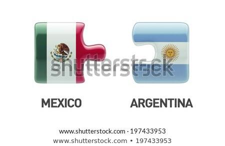 Аргентина · Мексика · флагами · головоломки · вектора · изображение - Сток-фото © Istanbul2009