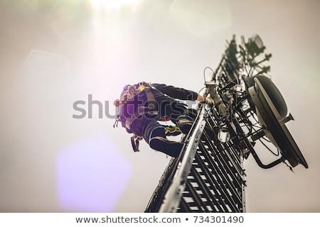 Manutenção antena comunicações controlar comunicação tecnologia Foto stock © Fotografiche