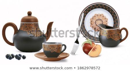 the background ceramic tiles  Stock photo © OleksandrO