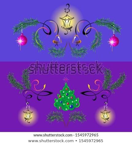Christmas fur-tree card. EPS 8 Stock photo © beholdereye