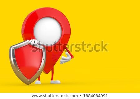 fechado · vermelho · cadeado · forma · coração · amor - foto stock © oakozhan