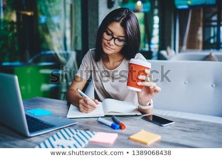 Trabajo Servicio Internet estudiante portátil Foto stock © racoolstudio
