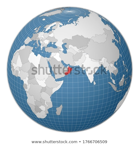 Oman Welt Karte Flagge Ansicht 3D-Darstellung Stock foto © Harlekino