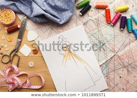 Female fashion designer drawing on paper Stock photo © wavebreak_media