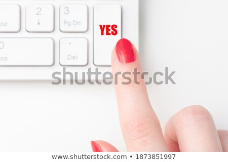 Yes CloseUp of Keyboard. Stock photo © tashatuvango