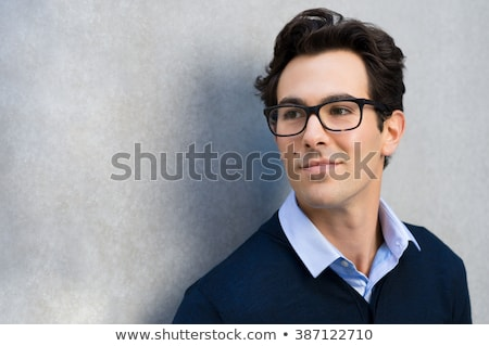 Man wearing glasses, contemplating Stock photo © IS2