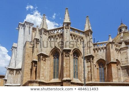 Stok fotoğraf: Katedral · gün · batımı · şehir · mavi · seyahat