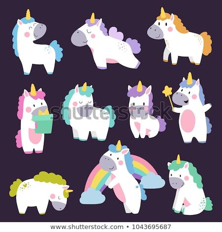 Set of unicorn character Stock photo © bluering