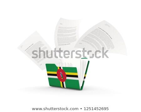 Mappa zászló Dominika akták izolált fehér Stock fotó © MikhailMishchenko