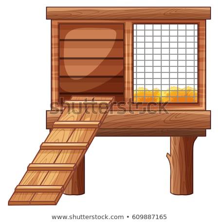 Animal cage made of wood Stock photo © colematt