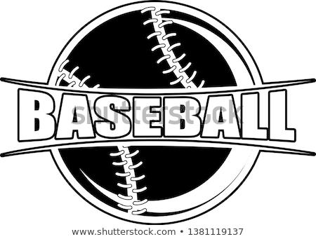 Beysbol logo tasarımı kız oyuncu örnek çocuklar Stok fotoğraf © colematt