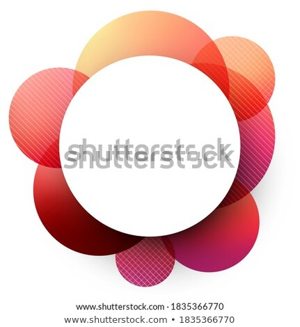 Red Glossy Shaded Circle Vector Illustration Stock photo © cidepix