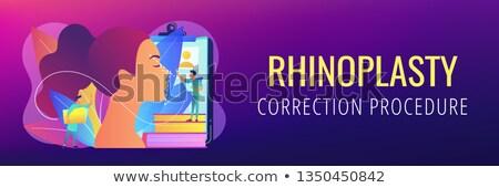 Rhinoplasty concept banner header. Stock photo © RAStudio
