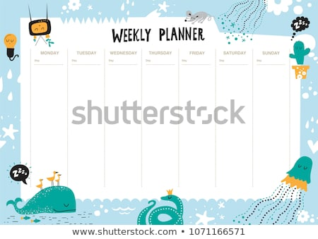 Parrot on note template Stock photo © bluering