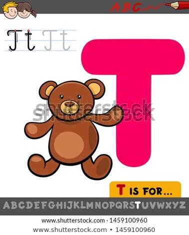 Educativo teddy cartoon illustrazione alfabeto Foto d'archivio © izakowski