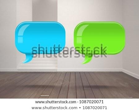 Deux brillant chat bulles chambre Photo stock © wavebreak_media