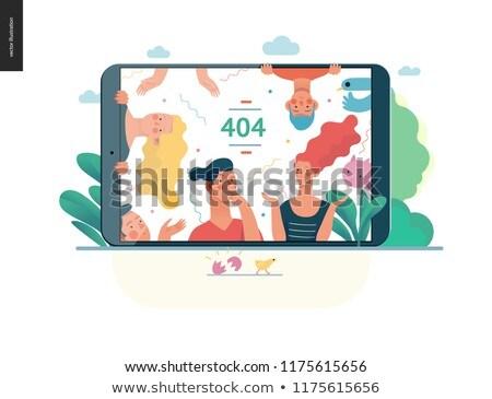 404 · sayfa · değil · vektör · dizayn · teknoloji - stok fotoğraf © decorwithme