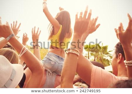 People Having Fun, Dancing and Singing Man Woman Stock photo © robuart