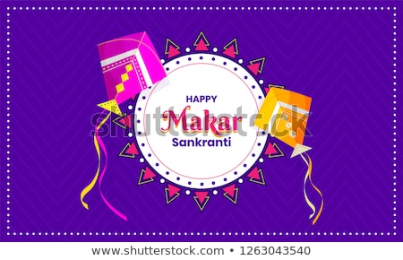 happy makar sankranti wishes festival card design Stock photo © SArts