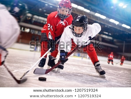 child on the hockey ice with a puck. Stock photo © Lopolo