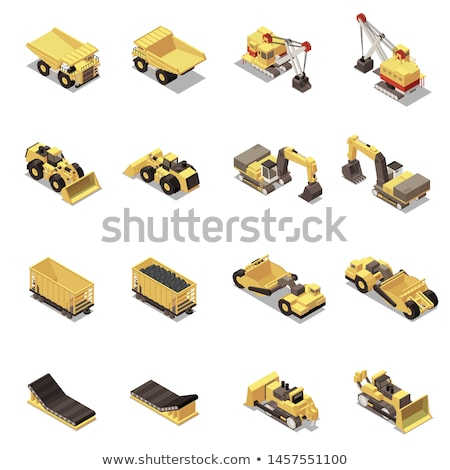 Mining Industry Equipments and Objects Vector Stock photo © robuart