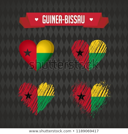 National flag of the Guinea Bissau in the shape of a heart and the inscription I love Guinea Bissau. Stock photo © butenkow