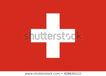 İsviçre bayrak beyaz sanat imzalamak bağbozumu Stok fotoğraf © butenkow