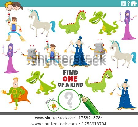 one of a kind game for children with fantasy characters Stock photo © izakowski