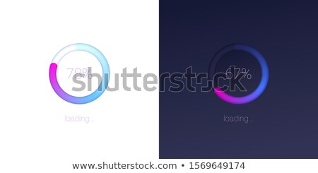 Circle Loading Progress Bars dark version Stock photo © orson