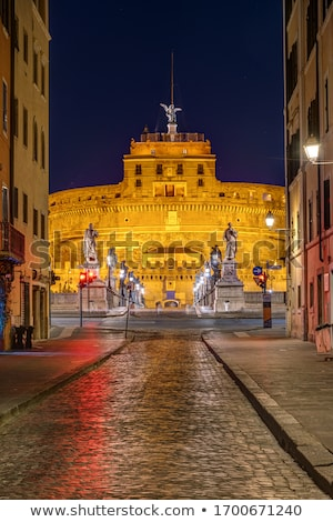 kilátás · éjszaka · Róma · Olaszország · épület · tájkép - stock fotó © vladacanon