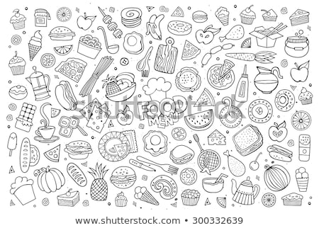 Apple Hamburger Fast Food Stock photo © balabolka