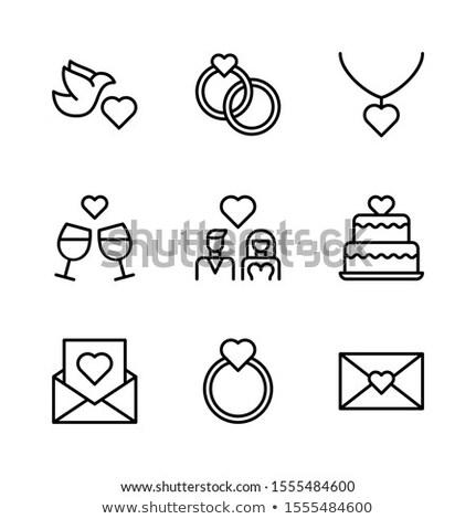 küçük · kalpler · konfeti · kara · tahta · sevmek · doğum · günü - stok fotoğraf © photocreo