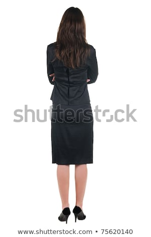 Woman standing behind a wall Stock photo © photography33
