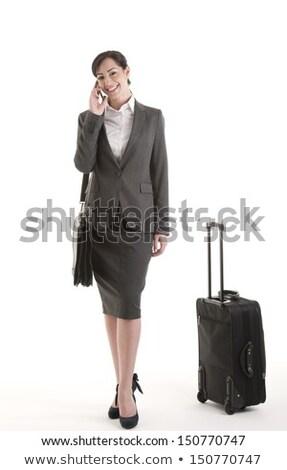 Fiatal nő visel üzlet lakosztály lövés stúdió Stock fotó © jayfish