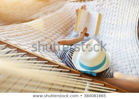 barefoot in the sand in summer holidays relaxing Stock photo © juniart