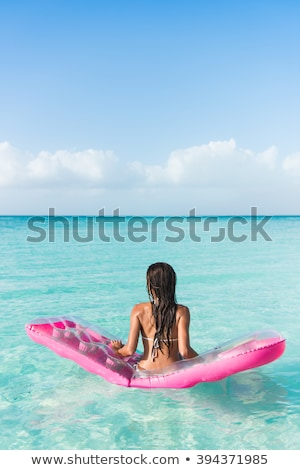 girl in pink bikini with wet hair Stock photo © carlodapino