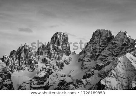 Nyár kilátás hegy kő felhő Európa Stock fotó © Antonio-S