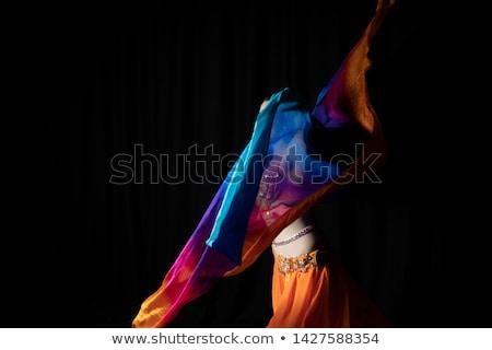 gyönyörű · egzotikus · has · táncos · nő · fiatal - stock fotó © stepstock