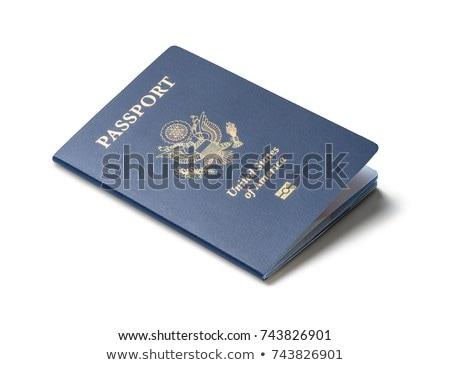 Pasaporte blanco seguridad viaje documento vacaciones Foto stock © njnightsky