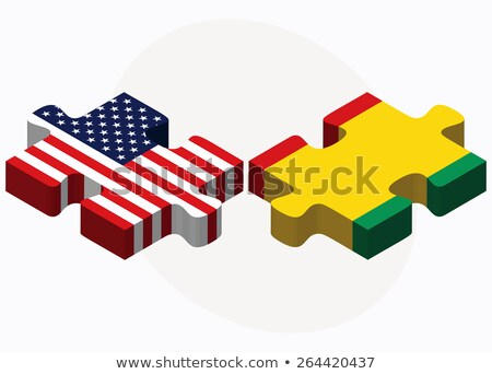 USA and Republic of Guinea Flags in puzzle  Stock photo © Istanbul2009