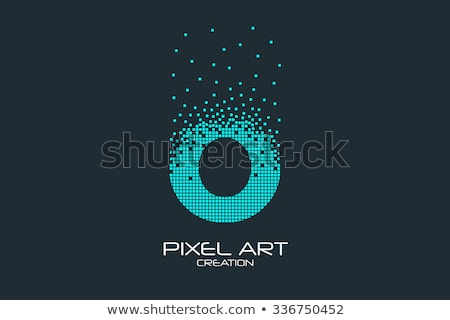Alfabeto partículas logotipo vetor Foto stock © netkov1