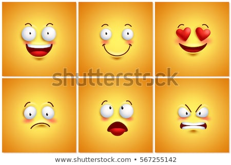 Happy and sad faces group. be happy poster Stock photo © netkov1