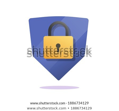 Stock photo: Protected Sign golden Vector Icon Design
