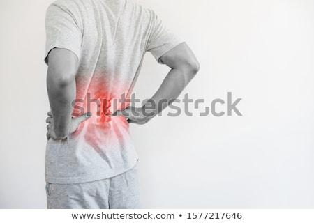 боль в спине мальчика человека подчеркнуть белый Сток-фото © alphaspirit