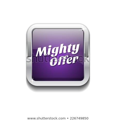 Potężny oferta fioletowy wektora ikona przycisk Zdjęcia stock © rizwanali3d