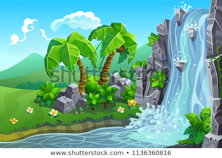 waterfall with cascades on a mountain river stock photo © kotenko
